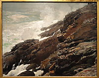 High Cliff, Coast of Maine, 1894, homer