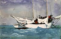 Key West, Hauling Anchor, 1903, homer