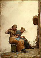 Mending the nets, 1881, homer