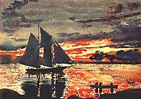 Sunset Fires, 1880, homer