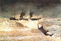 Wreck of the iron crown, 1881, homer