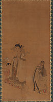 The Dragon King Revering the Buddha, 1644, hongshou