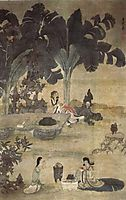 Drinking Wine in the Garden, hongshou