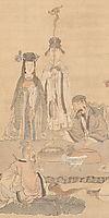 Immortals Celebrating a Birthday (detail), 1649, hongshou