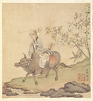 Lao-tzu Riding an Ox, hongshou