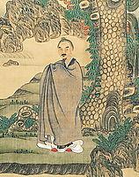 Self-portrait (detail), 1635, hongshou