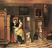 At the Linen Closet, 1665, hooch