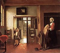 The Bedroom, 1658-1660, hooch