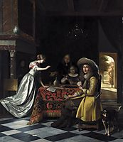 Card Players at a Table, c.1672, hooch