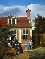 Company in garden, c.1664, hooch