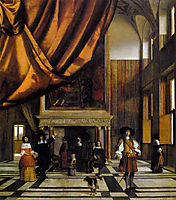 The Council Chamber of the Burgermasters, c.1665, hooch