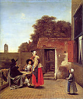 A Dutch Courtyard, 1659-1660, hooch