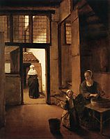 Interior of a Dutch House, c.1657, hooch