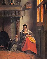 Nursing mother, c.1659, hooch