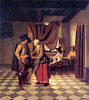 Paying the Hostess, 1658, hooch