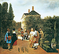 Skittle Players in a Garden, c.1664, hooch