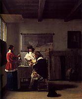 The Visit, c.1657, hooch