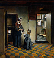 Woman and a Child in a Pantry, c.1658, hooch