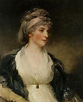 Portrait of Harriet Brouncker of Boveridge Dorset, hoppner