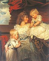 Portrait of Harriet, Viscountess Duncannon with Her Sons, 1787, hoppner