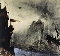 Ermitage Rock in an imaginary landscape, 1855, hugo