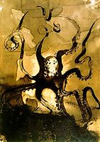 Octopus with the initials V.H., 1866, hugo