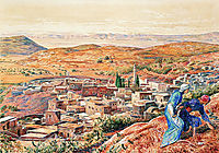 Distant View of Nazareth, 1861, hunt