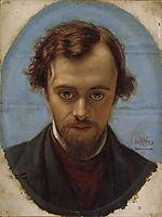 Portrait of Dante Gabriel Rossetti , 1853, hunt