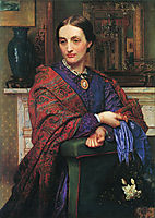 Portrait of Fanny Holman Hunt , 1868, hunt