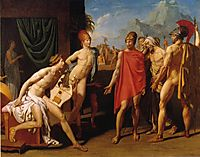 Ambassadors Sent by Agamemnon to Urge Achilles to Fight, 1801, ingres