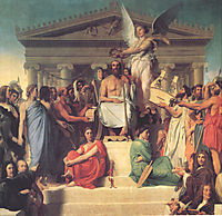 The Apotheosis of Homer, 1827, ingres