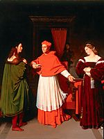 The Betrothal of Raphael and the Niece of Cardinal Bibbiena, 1814, ingres
