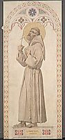 Cardboard window of the Chapel of St. Ferdinand. St. Francis of Assisi, 1842, ingres