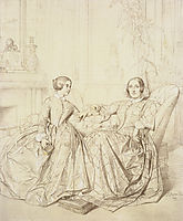 Countess Charles d-Agoult and her daughter Claire d-Agoult, 1849, ingres