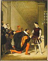 Don Pedro of Toledo Kissing the Sword of Henri IV, 1831, ingres