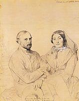 Edmond Ramel and his wife, born Irma Donbernard, ingres