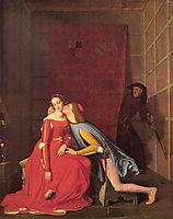 Francesca da Rimini and Paolo Malatesta, 1819, ingres