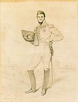 General Louis-Etienne Dulong de Rosnay, 1818, ingres