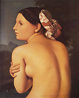 Half-figure of a Bather, 1807, ingres