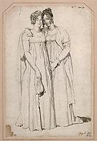 Henriette Harvey and her half sister Elizabeth Norton, ingres