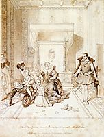 Henry IV Playing with His Children, 1819, ingres