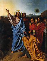 Jesus Returning the Keys to St. Peter, 1820, ingres