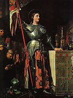 Joan of Arc on Corronation of Charles VII in the Cathedral of Reims, 1854, ingres