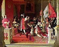 King Philip V of Spain Making Marshal James Fitzjames, ingres
