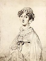 Lady William Henry Cavendish Bentinck, born Lady Mary Acheson I, ingres