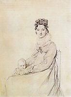 Madame Alexandre Lethiere, born Rosa Meli, and her daughter, Letizia, ingres
