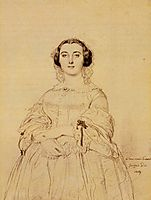 Madame Charles Simart, born Amélie Baltard, ingres