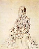 Madame Frederic Reiset, born Augustine Modest Hortense Reiset, and her daughter, Theres Hortense Marie, ingres