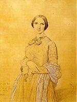 Madame Hippolyte Flandrin, born Aimée Caroline Ancelot, ingres
