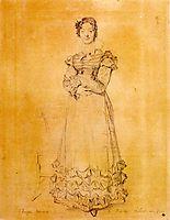 Madame Jacquelles Louis Leblanc, born Françoise Poncelle, ingres
